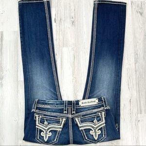 Rock Revival Kai Straight Leg Jean's. Size 28.